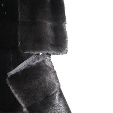 Шуба из норки с капюшоном