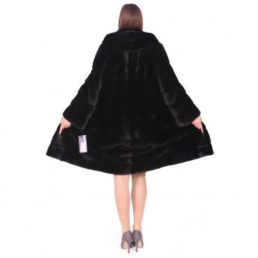 Hot - Французское пальто из норки с капюшоном