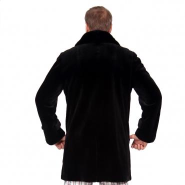 Пиджак из бобрика с английским воротником