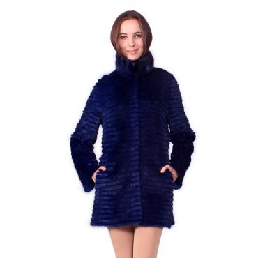 Пальто из норки с воротником