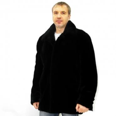 Куртка из норки с рубашечным воротником