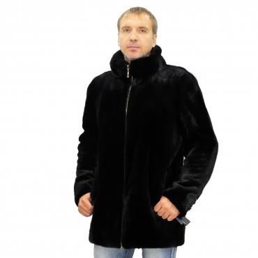 Куртка из норки с воротником
