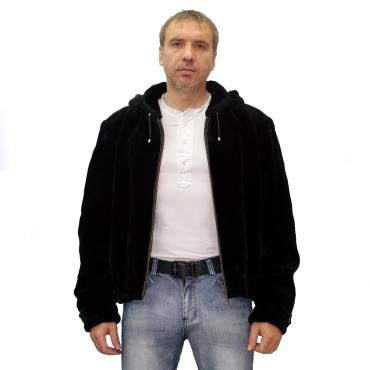 Куртка из бобрика с капюшоном