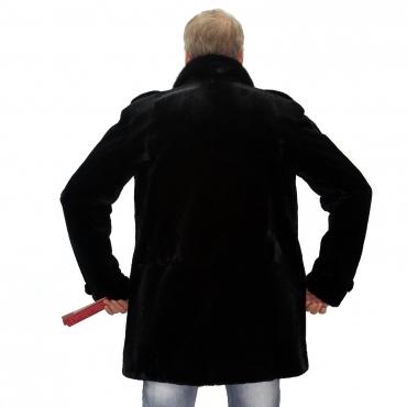Hot - Пиджак из бобрика с английским воротником