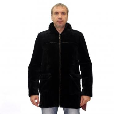 Куртка из бобрика с воротником