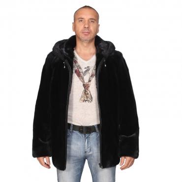 Куртка из норки с капюшоном