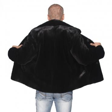 Куртка из норки с отложным воротником