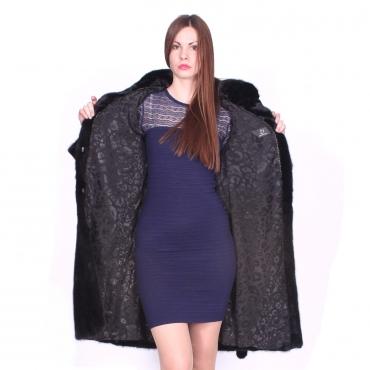 Hot - Пальто из норки с воротником